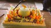 【鎧武/ガイム】呉島貴虎こと久保田悠来さんのお誕生日ケーキはメロンケーキw天下御免!