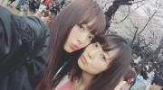 【仮面ライダードライブ】ドライブの内田理央 さんとトッキュウジャーの小島梨里杏 さんが二人でお花見散歩!