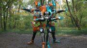【仮面ライダーエグゼイド】ジュージューバーガーガシャットで変身!仮面ライダーエグゼイド バーガーアクションゲーマーレベル4に!