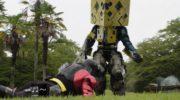 【仮面ライダービルド】スマッシュが巨大化w完全にスーパー戦隊にw巨大ロボのないビルド!でも龍我の槍投げでなんとかなるw