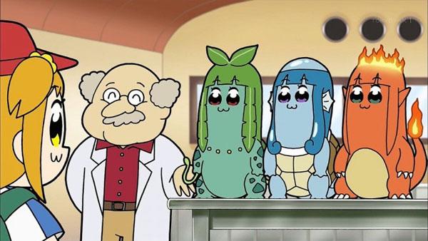 【ポプテピピック】あのポケモンがまさかのクソアニメに!前にクソアニメがポケモンをパクってた仕返し?