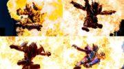 【仮面ライダービルド】エボルトに炎の4大ライダーキックが炸裂!怪人態エボルを倒すことができるのか?